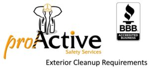 Exterior Cleanup Requirements